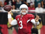Quarterback Carson Palmer #3 of the Arizona Cardinals throws a pass against the Philadelphia Eagles in the second half of the NFL game at University of Phoenix Stadium on October 26, 2014