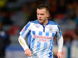 Harry Bunn of Huddersfield during the Sky Bet Championship match between Huddersfield Town and Brighton & Hove Albion at Galpharm Stadium on October 21, 2014
