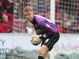 Joe Lumley of Accrington Stanley in action during the Sky Bet League Two match between Northampton Town and Accrington Stanley at Sixfields Stadium on September 20, 2014