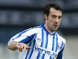 Manuel Pascali of Kilmarnock during the Scottish Communities Cup Semi Final match between Ayr United and Kilmarnock at Hampden Park on January 28, 2012