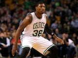 Marcus Smart #36 of the Boston Celtics defends against the Toronto Raptors at TD Garden on November 5, 2014