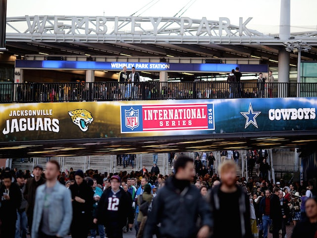 Fans arrive at the stadium prior to kickoff during the NFL week 10 match between the Jackson Jaguars and the Dallas Cowboys at Wembley Stadium on November 9, 2014
