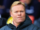 Ronald Koeman manager of Southampton looks on during the Barclays Premier League match between Southampton and Leicester City at St Mary's Stadium on November 8, 2014