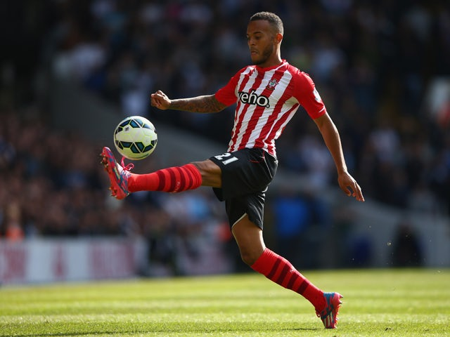 Ryan Bertrand of Southampton in action during the Barclays Premier League match between Tottenham Hotspur and Southampton at White Hart Lane on October 5, 2014