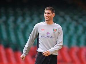 Ched Evans smiles during the Wales training session ahead of their UEFA EURO 2012 qualifier against England on March 25, 2011