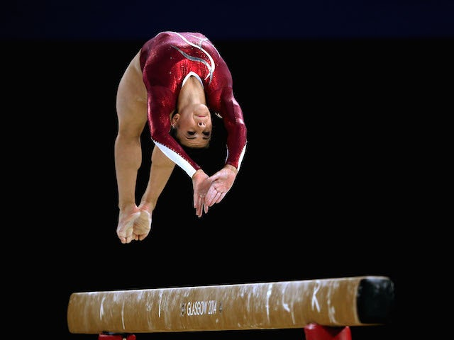 Claudia Fragapane of England competes on the way to winning the gold medal in the Women's All-Round Final during day seven of the Glasgow 2014 Commonwealth Games on July 30, 2014