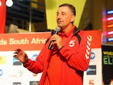 John Aldridge during the Liverpool FC Legends and Kaizer Chiefs Legends autograph session at Suncoast Casino and Entertainment World on November 15, 2013