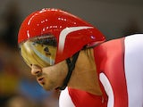 Kian Emadi of England prepraes to race in the Men's 1000m Time Trial Final at Sir Chris Hoy Velodrome during day three of the Glasgow 2014 Commonwealth Games on July 26, 2014