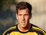 Liam Buchanan of Alloa Athletic FC in action during the pre-season friendly at Recreation Park on July 17, 2014