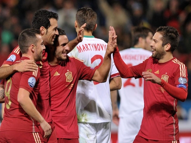 Result: Spain up the pressure on Group C leaders