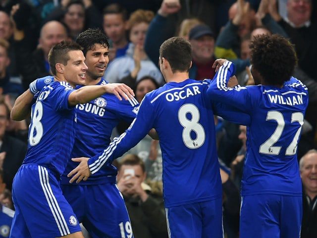 Result: Costa, Hazard fire Blues seven points clear