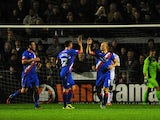 Main Curtis of Doncaster Rovers celebrates scoring his side's first goal during the FA Cup First Round match between Weston-Super-Mare and Doncaster Rovers on November 18, 2014