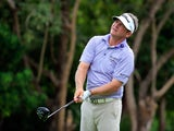 Jason Bohn of the United States hits a tee shot on the 7th hole during the final round of the OHL Classic at the Mayakoba El Camaleon Golf Club on November 16, 2014