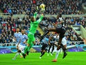 Robert Green of QPR makes a save during the Barclays Premier League match between Newcastle United and Queens Park Rangers at St James' Park on November 22, 2014