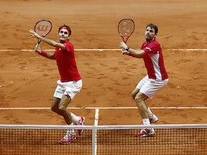 Doubles win puts Switzerland ahead
