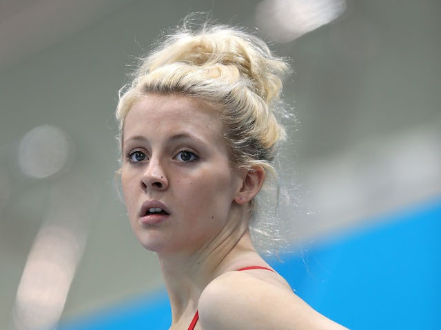 Swimmer Siobhan-Marie O'Connor of Great Britain looks on during a training session ahead of the London Olympic Games at the Aquatics Centre in Olympic Park on July 26, 2012