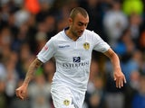Tommaso Bianchi of Leeds United during the Sky Bet Championship match between Leeds United and Sheffield Wednesday at Elland Road on October 4, 2014