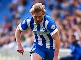Craig Mackail-Smith of Brighton attacks during the Capital One Cup First Round match between Brighton & Hove Albion and Cheltenham Town at The Amex Stadium on August 12, 2014