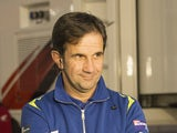 Davide Brivio of Italy and Suzuki Test Team speaks with journalist in paddock during the MotoGP of Valencia - Previews at Ricardo Tormo Circuit on November 6, 2014