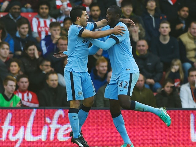 Result: Man City pick off Southampton to climb up to second