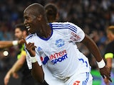 Marseille's French defender Rod Fanni celebrates after scoring his team's second goal during the French L1 football match Marseille (OM) vs Nantes (FCN) on November 28, 2014