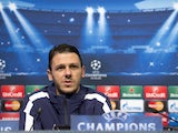 Manchester City's Argentinian defender Martin Demichelis addresses a press conference at the Etihad Stadium following a team training session in Manchester, north west England, on November 24, 2014