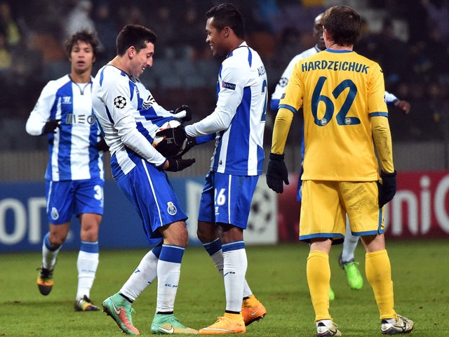 Result: Porto ease past BATE Borisov