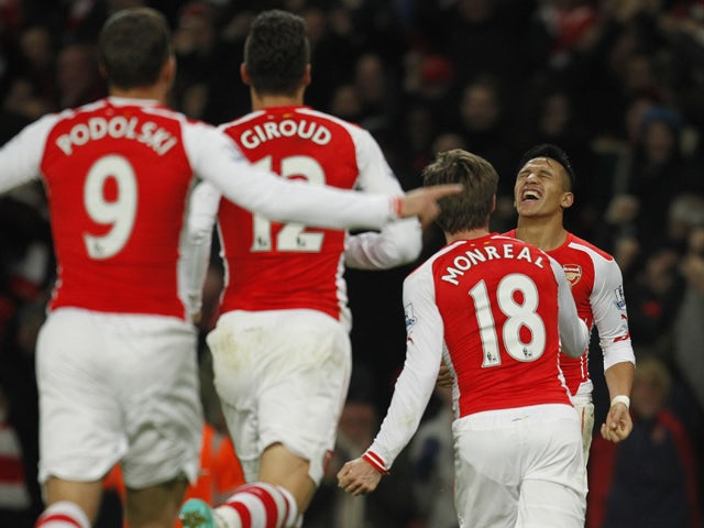 Result: Late Sanchez strike gives Arsenal win