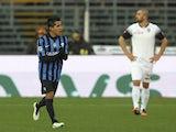 Maximiliano Moralez of Atalanta BC celebrates his goal during the Serie A match between Atalanta BC and AC Cesena at Stadio Atleti Azzurri d'Italia on December 7, 2014