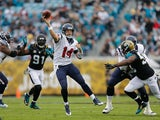 Ryan Fitzpatrick #14 of the Houston Texans throws during the first half of the game against the Jacksonville Jaguars at EverBank Field on December 7, 2014