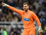 Goalkeeper Jak Alnwick of Newcastle United directs his defence during the Barclays Premier League match against Chelsea on December 6, 2014