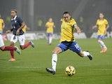 Brazilian Marta Vieira Da Silva kicks the ball during an international women friendly football match France vs Brazil on November 26, 2014
