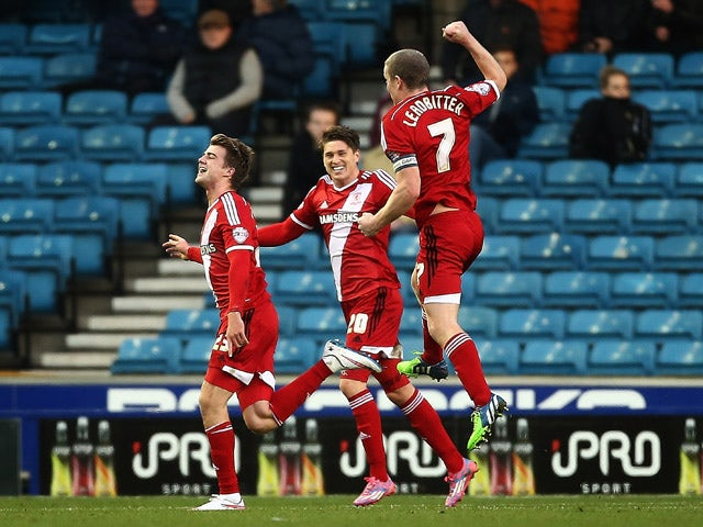 Result: Boro beat 10-man Derby