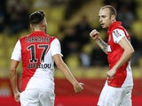 Monaco's Bulgarian forward Dimitar Berbatov celebrates after scoring a goal during the French L1 football match Monaco (ASM) vs Lens (RCL) on December 2, 2014