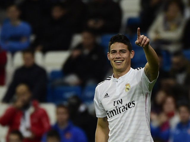 Result: Rodriguez bags brace as Real progress