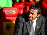 Watford manager Slavisa Jokanovic during the Sky Bet Championship match between Watford and Millwall at Vicarage Road on November 01, 2014