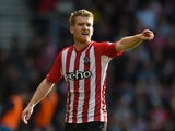 Steven Davis of Southampton in action during the Barclays Premier League match between Southampton and Stoke City at St Mary's Stadium on October 25, 2014