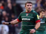 Tom Youngs of Leicester Tigers during the Aviva Premiership match between Leicester Tigers and Wasps at Welford Rd. on November 29, 2014