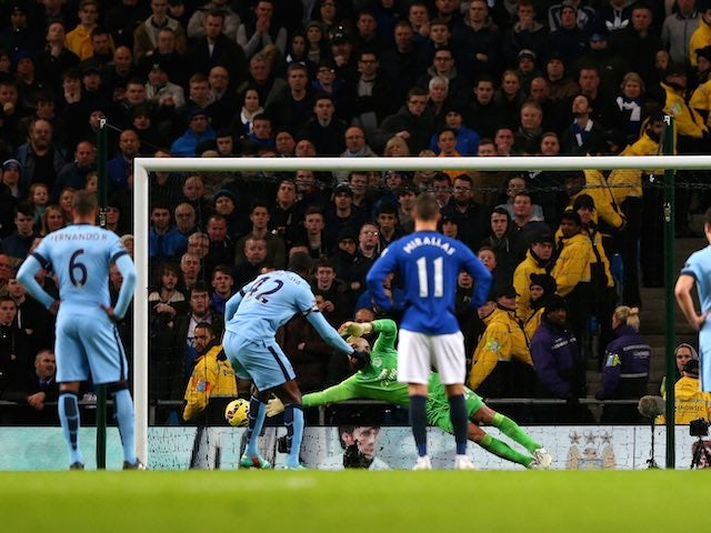 Result: City beat Everton to close gap on Chelsea