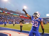 Fred Jackson #22 of the Buffalo Bills celebrates after beating the Green Bay Packers at Ralph Wilson Stadium on December 14, 2014