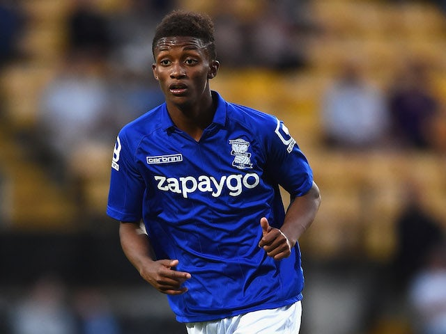 Demarai Gray of Birmingham City in action during the Pre Season Friendly match between Notts County and Birmingham City at Meadow Lane on July 29, 2014