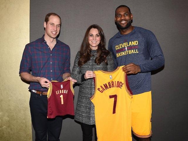 Prince William, Kate meet LeBron at NBA clash