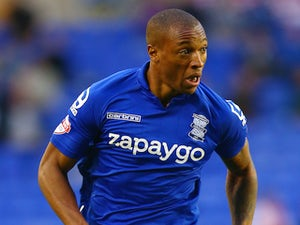 Wes Thomas of Birmingham City in action during the Capital One Cup second round match between Birmingham City and Sunderland at St Andrews (stadium) on August 27, 2014