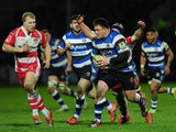 David Wilson of Bath makes a break during the Aviva Premiership match between Gloucester Rugby and Bath Rugby at Kingsholm Stadium on December 20, 2014
