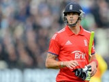 England's Kevin Pietersen leaves the pitch after losing his wicket for 6 runs during the third one day international (ODI) cricket match between England and Australia at Edgbaston cricket ground in Birmingham, central England on September 11, 2013