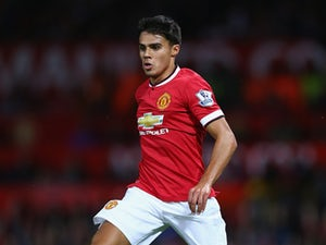 Reece James of Manchester United in action during the Pre Season Friendly match between Manchester United and Valencia at Old Trafford on August 12, 2014