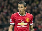Angel di Maria in action for Manchester United on November 8, 2014