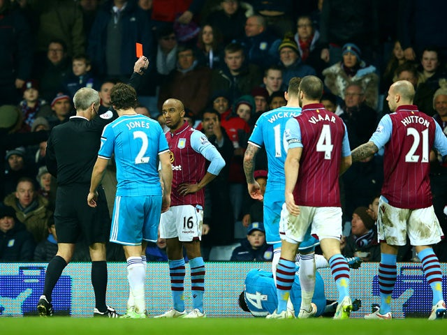 Result: 10-man Aston Villa battle to draw