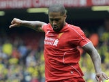 Glen Johnson in action for Liverpool on August 10, 2014