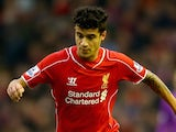 Philippe Coutinho in action for Liverpool on November 29, 2014